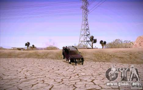Nissan Fronter para GTA San Andreas interior