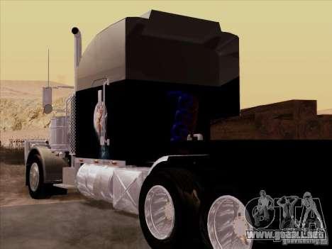 Peterbilt 378 Custom para la visión correcta GTA San Andreas