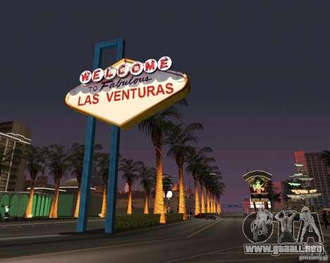 Real New Vegas v1 para GTA San Andreas segunda pantalla