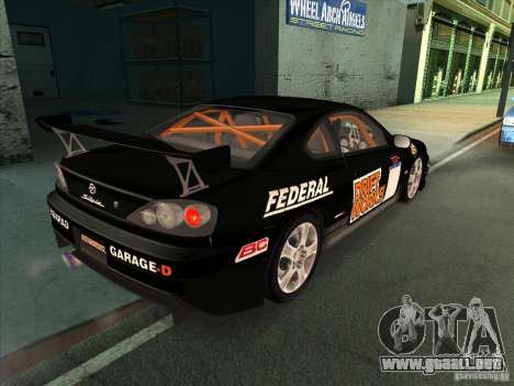 Nissan Silvia S15 Tunable KIT C1 - TOP SECRET para GTA San Andreas interior