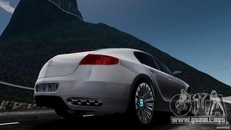 Bugatti Galibier 2009 para GTA 4 visión correcta