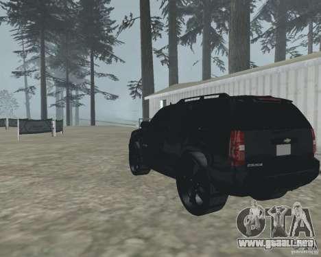 Chevrolet Tahoe BLACK EDITION para GTA San Andreas vista posterior izquierda