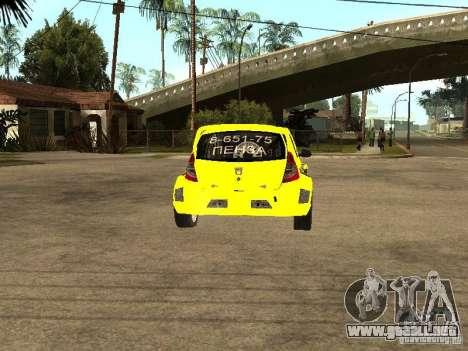 Dacia Sandero Speed Taxi para GTA San Andreas vista posterior izquierda