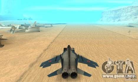 MiG-31 Foxhound para visión interna GTA San Andreas