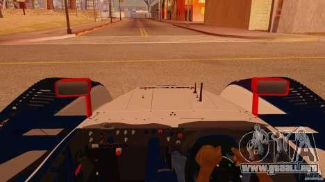 Porsche RS Spyder EVO Dyson Racing para GTA San Andreas vista hacia atrás