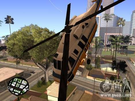 Disparos desde un helicóptero para GTA San Andreas