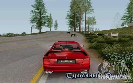 BMW 850i v2.0 Final para visión interna GTA San Andreas
