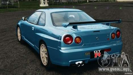 Nissan Skyline GT-R R34 2002 v1.0 para GTA 4 Vista posterior izquierda