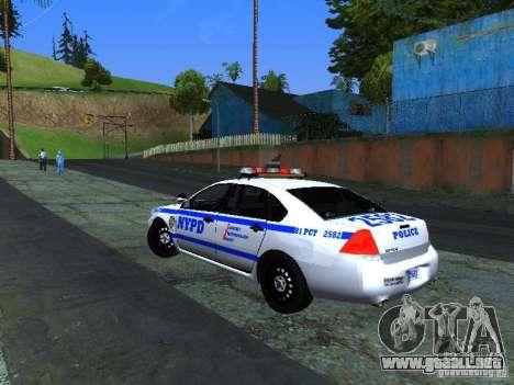 Chevrolet Impala NYPD para la visión correcta GTA San Andreas