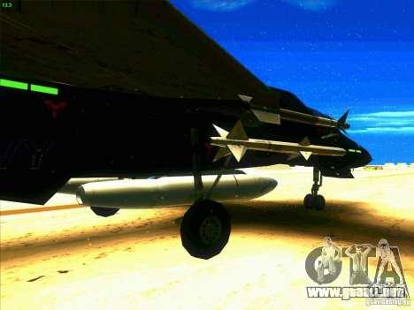 F-14 Tomcat Razgriz para GTA San Andreas vista hacia atrás