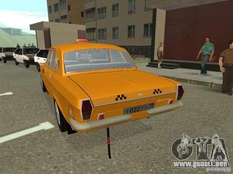 Taxi Volga GAZ 24-10 para GTA San Andreas left