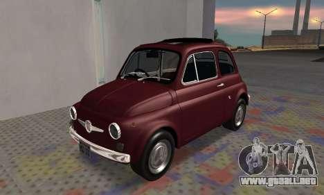 Fiat Abarth 595 SS 1968 para visión interna GTA San Andreas