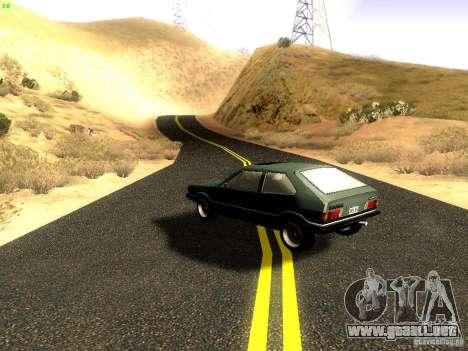 Volkswagen Scirocco Mk1 para GTA San Andreas vista posterior izquierda