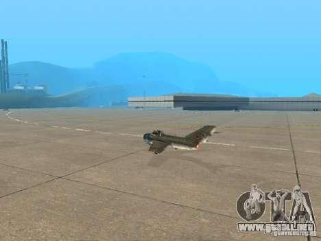 MiG 15 con armas para GTA San Andreas left
