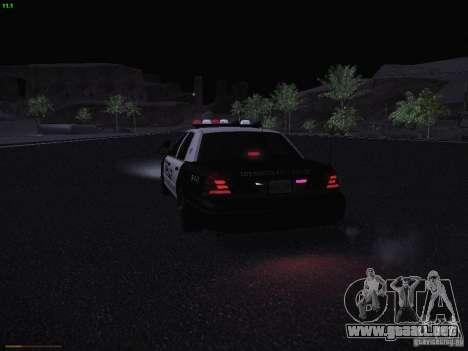 Ford Crown Victoria Police 2003 para la vista superior GTA San Andreas