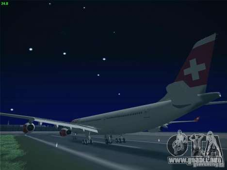Airbus A340-300 Swiss International Airlines para visión interna GTA San Andreas