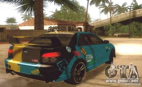 Subaru Impreza WRX STI Futou Battle para GTA San Andreas vista posterior izquierda