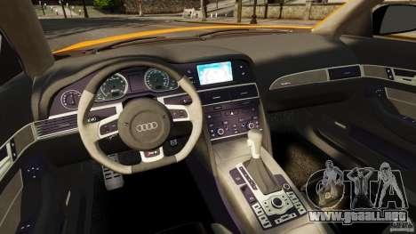 Audi A6 Avant Stanced 2012 v2.0 para GTA 4 vista hacia atrás
