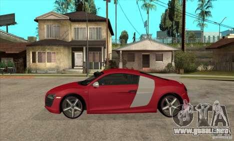 Audi R8 V10 para GTA San Andreas left