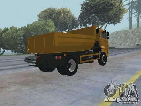 KAMAZ 53605 TAI versión 1.1 para la visión correcta GTA San Andreas