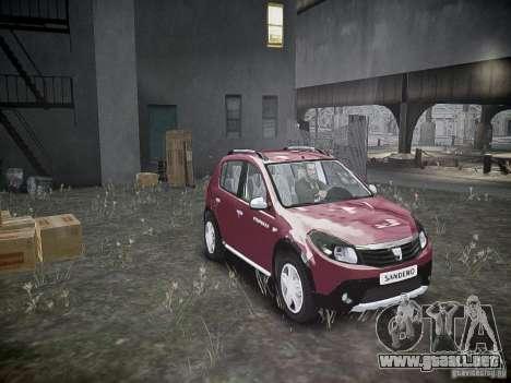 Dacia Sandero Stepway para GTA 4 vista lateral