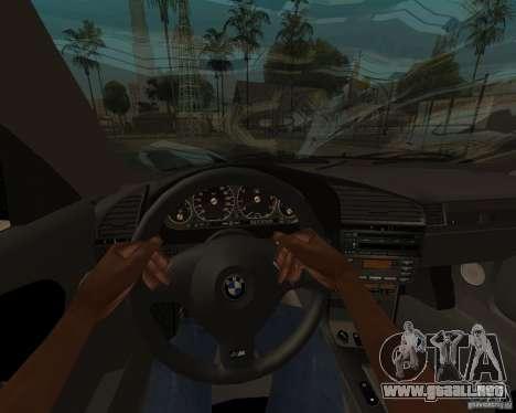 BMW M3 e36 1997 para GTA San Andreas vista posterior izquierda