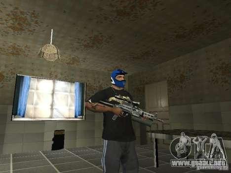 Bizon PP-19 con óptica para GTA San Andreas segunda pantalla