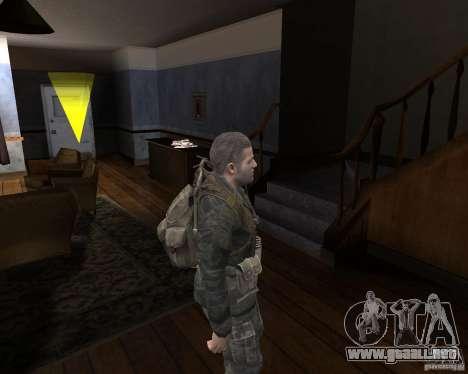 Alex Mason para GTA San Andreas sucesivamente de pantalla