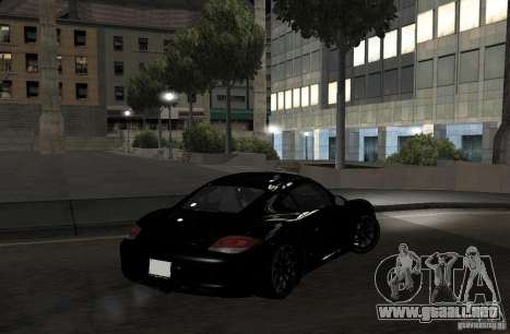 Porsche Cayman R para GTA San Andreas vista hacia atrás