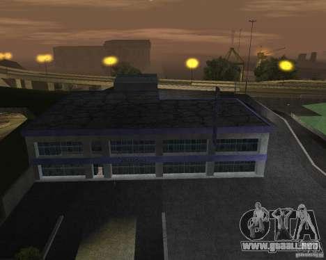 Salón del automóvil de SF para GTA San Andreas quinta pantalla