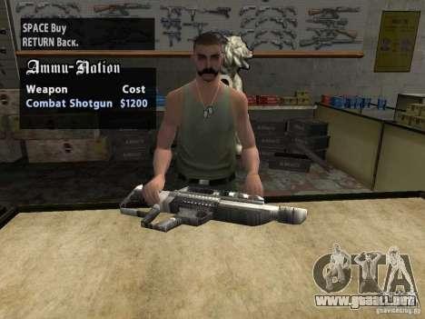Pancor Jackhammer para GTA San Andreas sucesivamente de pantalla