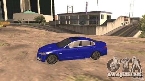 Jaguar XFR 2012 V1.0 para la visión correcta GTA San Andreas