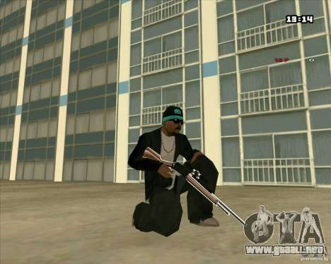 Chrome Weapon Pack para GTA San Andreas octavo de pantalla