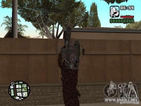 Wesker Ouroboros para GTA San Andreas segunda pantalla