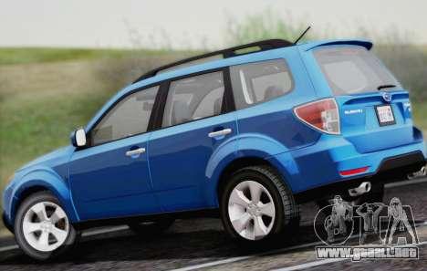 Subaru Forester XT 2008 para GTA San Andreas vista hacia atrás