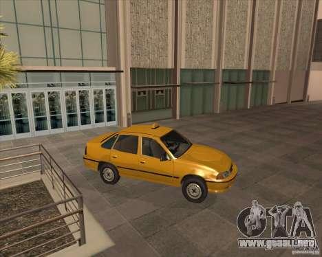 Daewoo Nexia Taxi para GTA San Andreas vista posterior izquierda