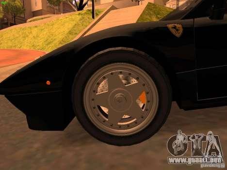 Ferrari 288 GTO para GTA San Andreas vista hacia atrás