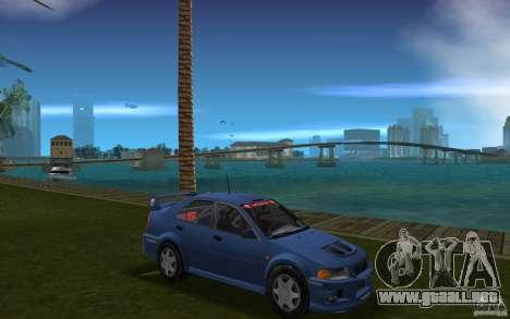 Mitsubishi Lancer Evo VI para GTA Vice City vista posterior
