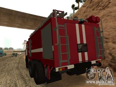 KAMAZ 53229 bombero para GTA San Andreas left