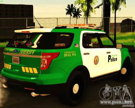 Ford Explorer 2011 VCPD Police para GTA San Andreas left