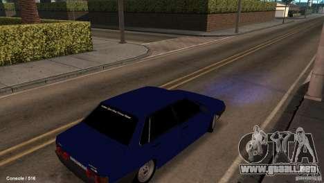 BAZ 21099 para GTA San Andreas vista posterior izquierda