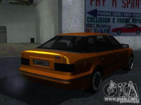 Ford Sierra Mk1 Sedan para GTA San Andreas vista posterior izquierda