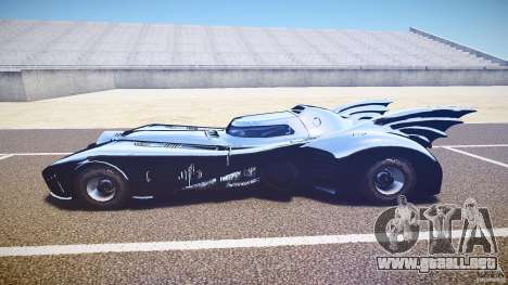 Batmobile v1.0 para GTA 4 Vista posterior izquierda