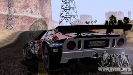 Ford GT Matech GT3 Series para vista lateral GTA San Andreas