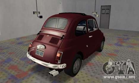 Fiat Abarth 595 SS 1968 para GTA San Andreas vista posterior izquierda