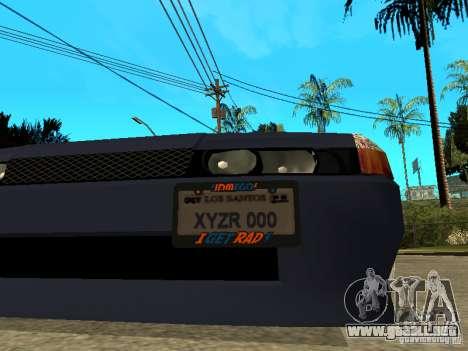Elegy JDM para GTA San Andreas vista hacia atrás