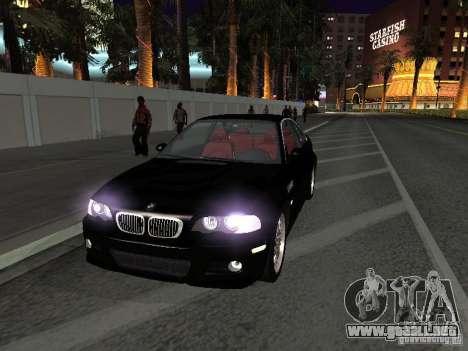BMW M3 GT-R Stock para visión interna GTA San Andreas