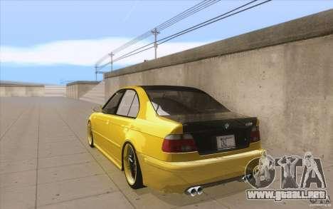 BMW M5 E39 - FnF4 para GTA San Andreas vista posterior izquierda