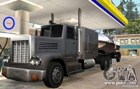 Packer Truck para GTA San Andreas vista posterior izquierda