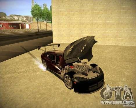 Dodge Viper TT para visión interna GTA San Andreas